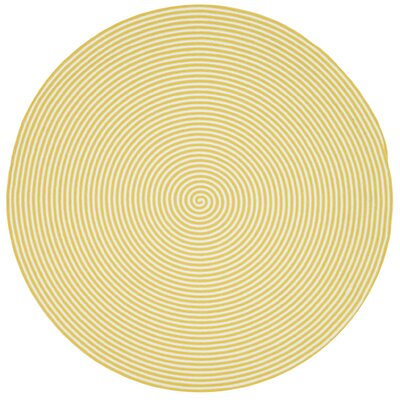Marcelina Yellow Indoor/Outdoor Rug Rug Size: Round 710