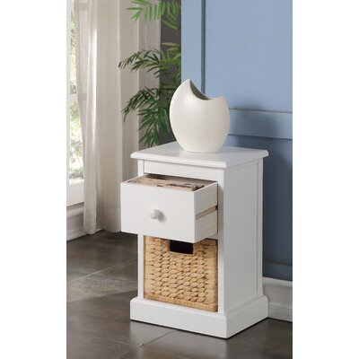 Dekker 1-Basket Storage Chest Finish: White