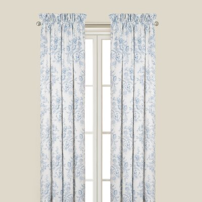 Karen Blue Single Curtain Panel