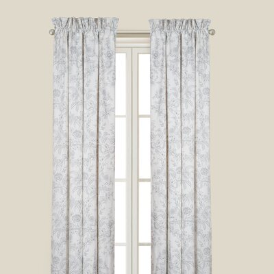 Karen Gray Single Curtain Panel