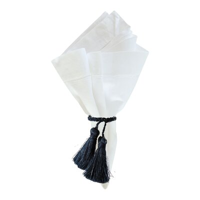 Tassle Napkin Ring, Indigo (Set of 6)