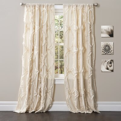 Birch Lane Eileen Solid Semi-Sheer Rod Pocket Single Curtain Panel