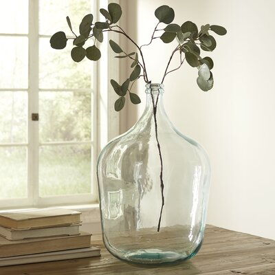Angeletta Recycled Glass Vase Color: Clear