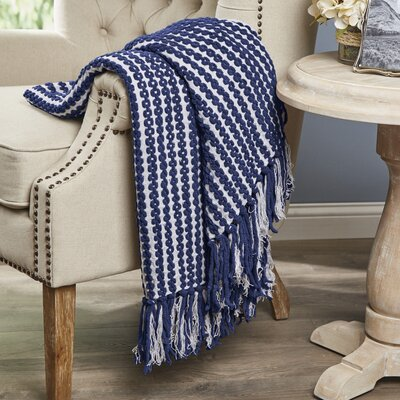 Shania Chenille Throw Color: Navy
