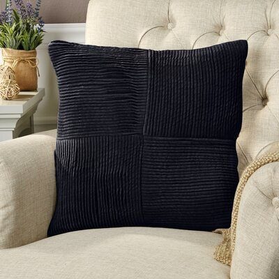 Bellevue 100% Cotton Pillow Cover Size: 18 H x 18 W x 0.25 D, Color: Blue