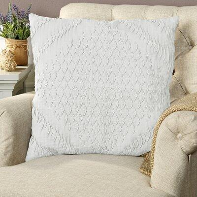 Winona Pillow Cover Size: 18 H x 18 W x 1 D, Color: Silver Gray