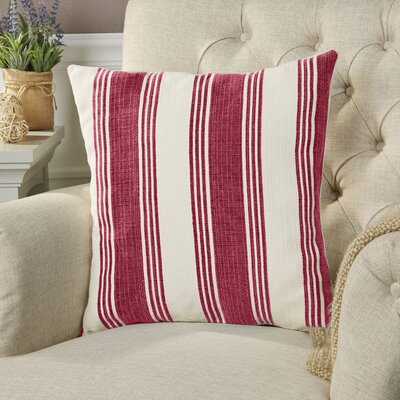 Roseanne Pillow Cover Size: 22 H x 22 W x 0.25 D, Color: RedNeutral