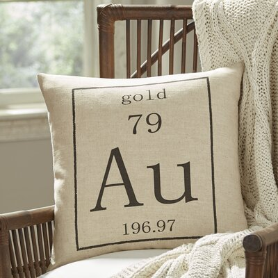Gold Periodic Table Pillow Cover