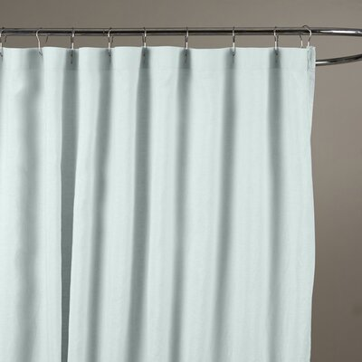 Reva Belgian Linen Shower Curtain Color: Seafoam