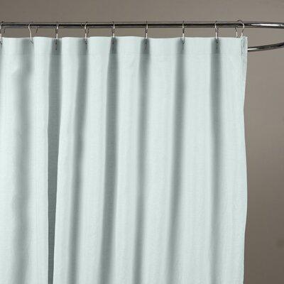 Bernadette Belgian Linen Shower Curtain Color: Seafoam