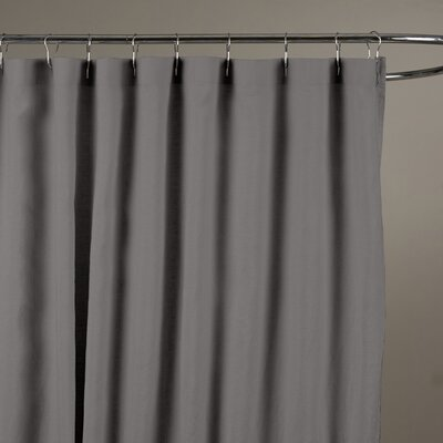Bernadette Belgian Linen Shower Curtain Color: Slate Grey