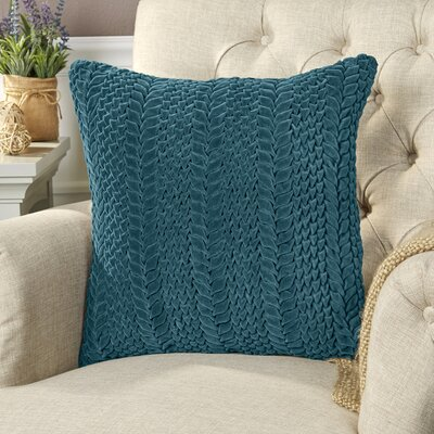 Mandrell Velvet Pillow Color: Emerald, Size: 22 H x 22 W x 1 D