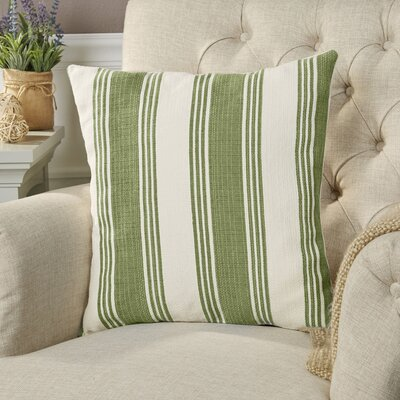 Roseanne Pillow Cover Size: 22 H x 22 W x 0.25 D, Color: GreenNeutral