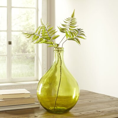 European Recycled Glass Vase Color: Yellow