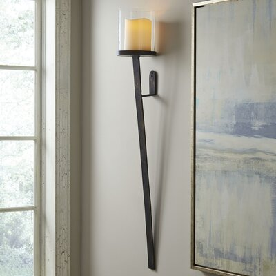 Sonoma Glass Hurricane Sconce