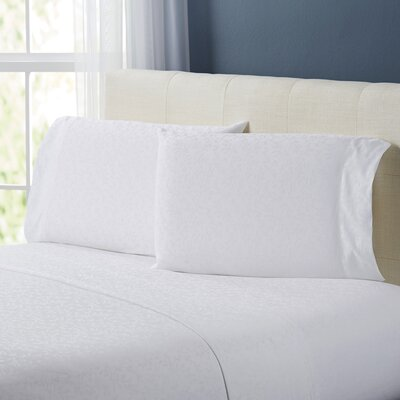 Rolette Sheet Set Size: King, Color: White