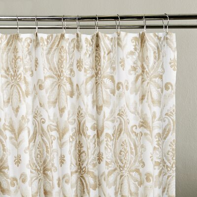 Amherst Shower Curtain Color: Taupe