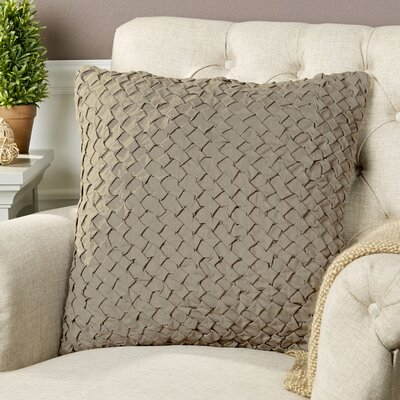Margot Pillow Cover Size: 20 H x 20 W x 1 D, Color: Taupe