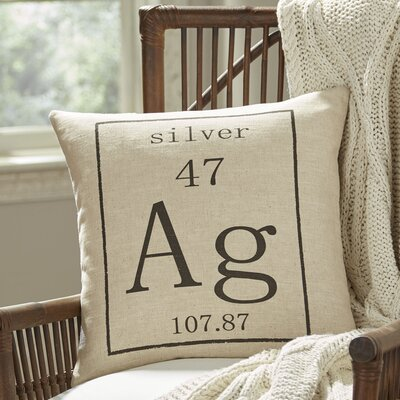 Silver Periodic Table Pillow Cover