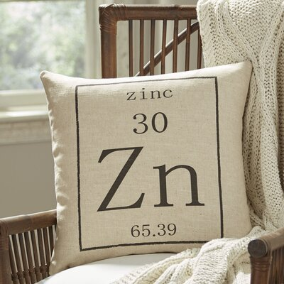 Zinc Periodic Table Pillow Cover