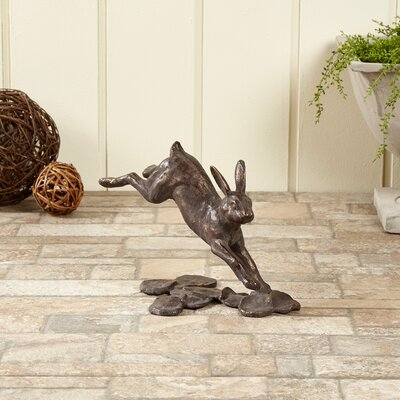Bounding Hare Statue