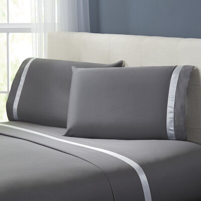 Kathy Sheet Set Size: Twin, Color: Charcoal / Silver