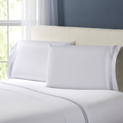 Stowe Sheet Set Size: Twin, Color: Platinum