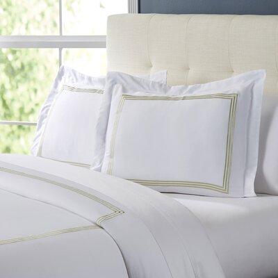 Tappen Duvet Set Color: White / Sage, Size: King