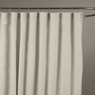 Reva Belgian Linen Shower Curtain Color: Stone