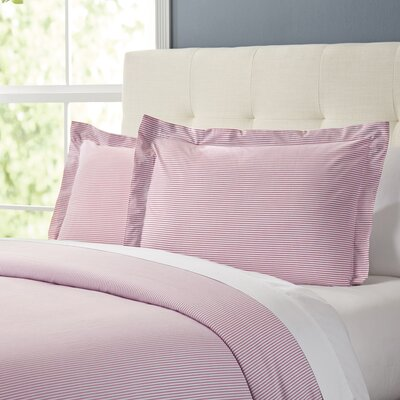 Maiden Duvet Set Color: Coral, Size: Queen