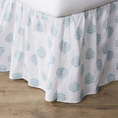 Berthold Bed Skirt Size: Queen, Color: Chambray