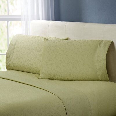 Rolette Sheet Set Color: Silver Sage, Size: King