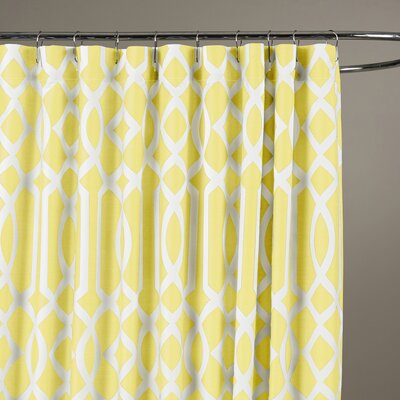 Irene Shower Curtain Color: Yellow
