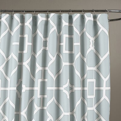 Sandra Shower Curtain Color: Soft Blue