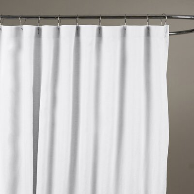 Reva Belgian Linen Shower Curtain Color: Eggshell White