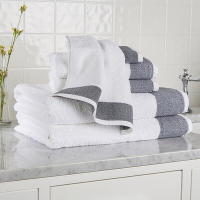 Claudine 6-Piece Towel Set Color: Black