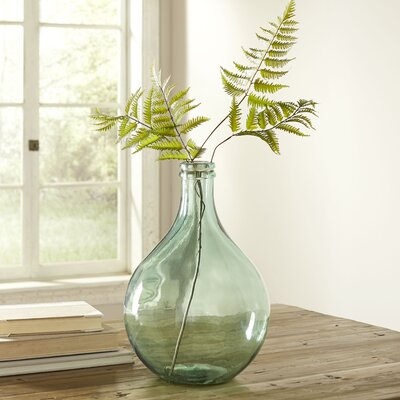 European Recycled Glass Vase Color: Dark Clear