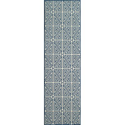 Navy Indoor/Outdoor Area Rug Rug Size: Runner 23 x 76