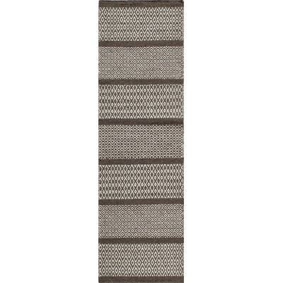 Willard Hand-Woven Chocolate Area Rug Rug Size: Runner 23 x 8