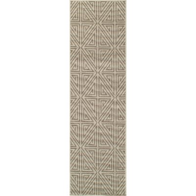 Solana Putty/Parchment Indoor/Outdoor Area Rug Rug Size: 23 x 46