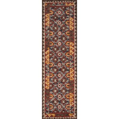Larkin Hand-Tufted Red Area Rug Rug Size: Runner 23 x 8