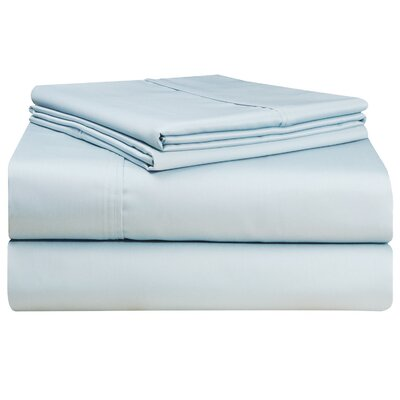 Birch Lane Classics Sheet Set Color: Blue, Size: California King