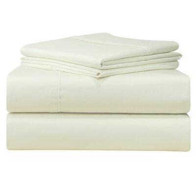 Birch Lane Classics Sheet Set Size: California King, Color: Ivory