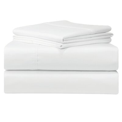 Birch Lane Classics Sheet Set Size: Queen, Color: White