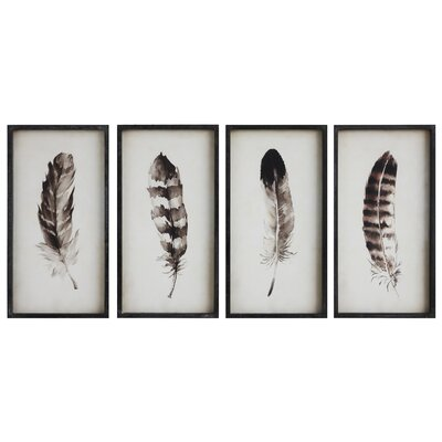 Watercolor Feather Framed Prints