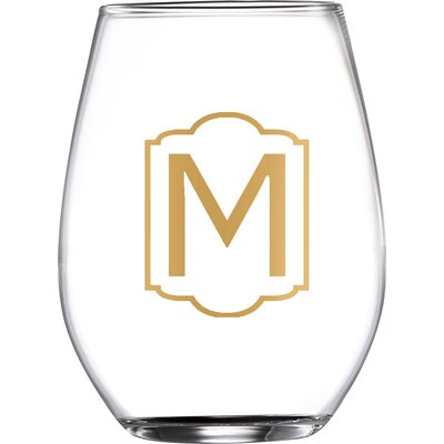 Hastings Monogrammed Stemless Wine Glasses