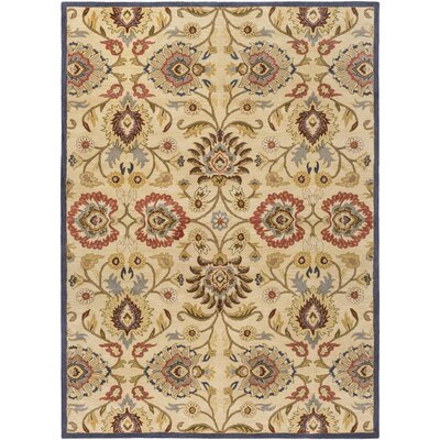 Phoebe Natural & Brick Rug Rug Size: Rectangle 76 x 96