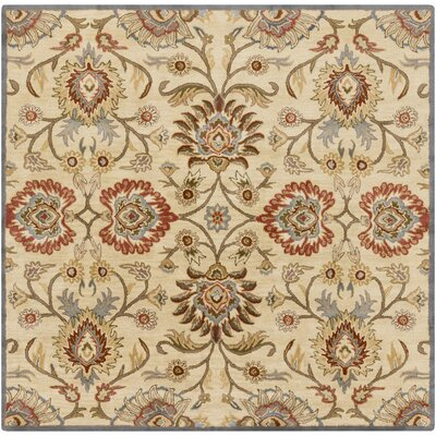 Phoebe Natural & Brick Rug Rug Size: Square 8