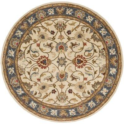 Arden Parchment Rug Rug Size: Round 6