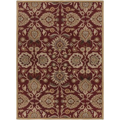 Phoebe Brick Tufted Wool Area Rug Rug Size: Rectangle 8 x 11
